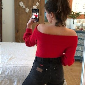 Forever 21 Sweaters - Red off the shoulder sweater